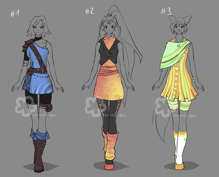 custom outfits 17 by nahemii san dont use without permission