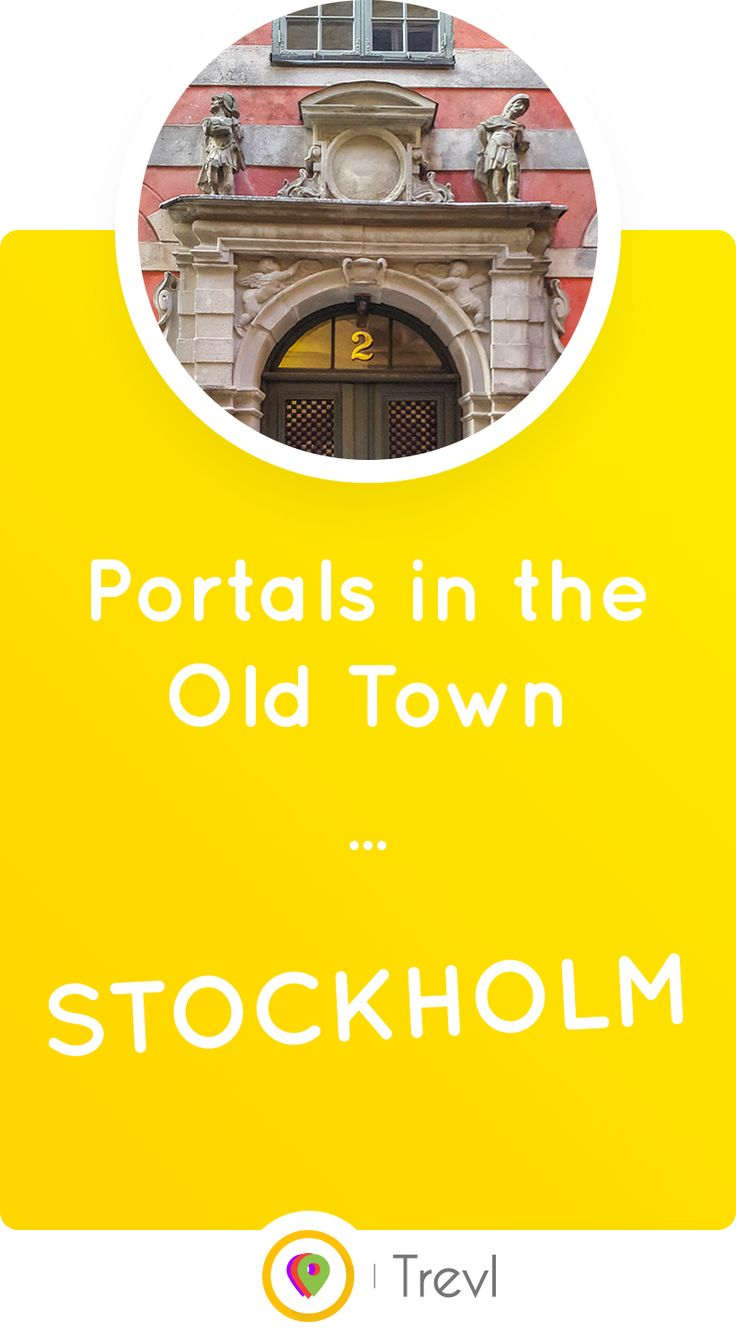 Explore the beautiful, diverse entrance portals in the Old Town (Gamla stan) of Stockholm, Sweden.