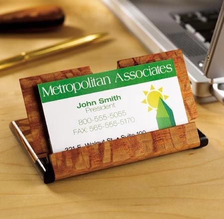 Home office diy by woodmagazine 12 diy and crafts ideas for Wood business card holder plans