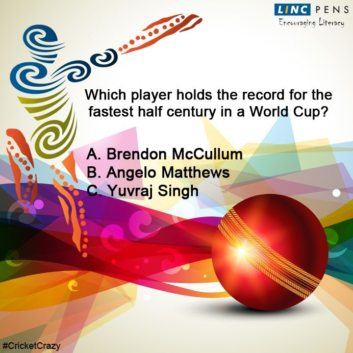 Question #22 ‪#‎CricketCrazy‬ ‪#‎WorldCup15‬