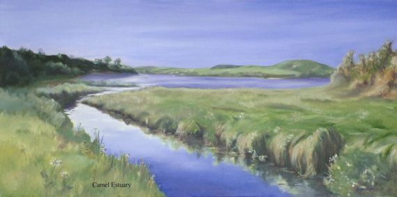 #Cornish #Landscape Print of Oil on Canvas - A3- Camel Estuary, Cornwall, 5% of profits to Cornwall Air Ambulance Trust, registered charity