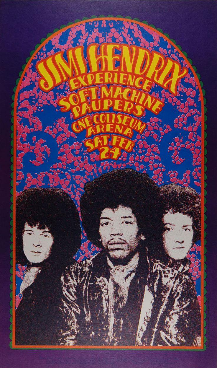 Jimi Hendrix Psychedelic Pop Art Mini A2 Paper Poster - Camden ...