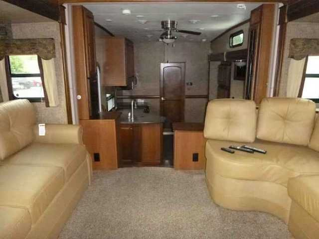 2013 Used Dutchmen Infinity IN3750FL Fifth Wheel in Washington WA.Recreational Vehicle, rv, 2013 Dutchmen Infinity IN3750FL, Fiberglass Exterior, Enclosed LPG Tank Compartment, Entry Grab Bar - Collapsable, Jacks, Basement Storage Area, Outside Shower, Outside Phone/Cable/TV Hook-Up, TV Antenna, Rear Ladder, Spare Tire, Aluminum Frame Construction, Electric Awning, Battery/Holding Tank Monitor, Carbon Monoxide Detector, Fire Extinguisher, L.P. Gas Detector, Smoke Detector Alarm, Electric…
