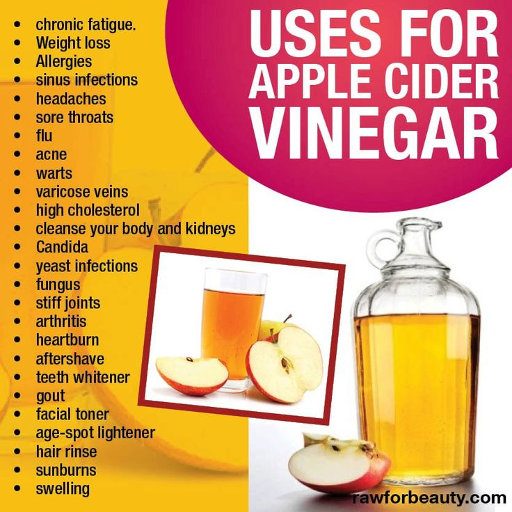 So many uses for apple cider vinegar! Create a healthy alkalizing drink by mixing 2tbsp with a glass of water and a bit of stevia to sweeten and sip. So many other uses!