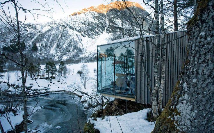 Photo: River Sauna, Valldal, Norway. Photography: Jensen & Skodvin Architects