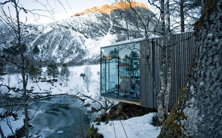 Photo: River Sauna, Valldal, Norway. Photography: Jensen & Skodvin Architects