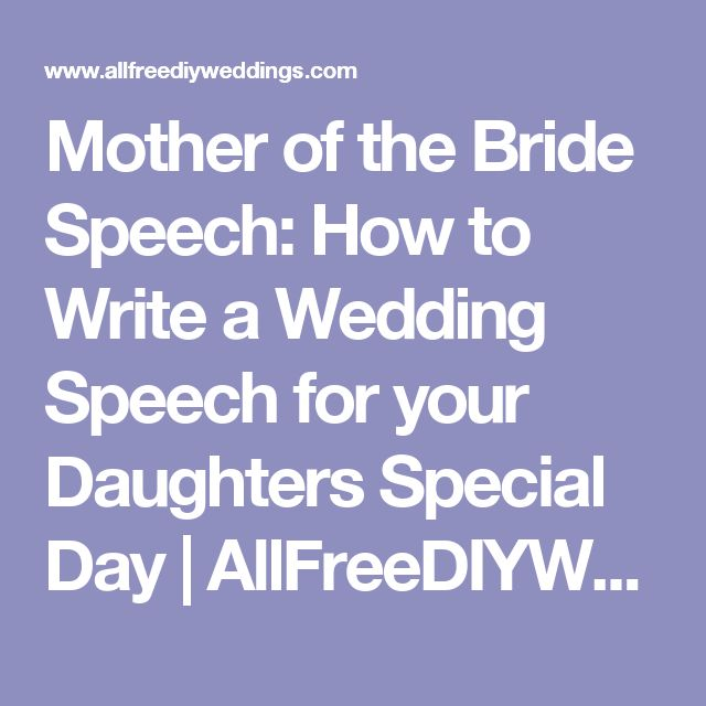 how to give a wedding speech father of the bride