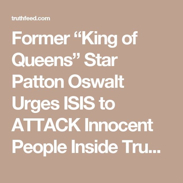 """Former """"King of Queens"""" Star Patton Oswalt Urges ISIS to ATTACK Innocent People Inside Trump's Hotels – TruthFeed"""