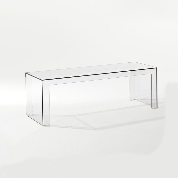 Invisible Side Bord, Stor, Kristall, Kartell