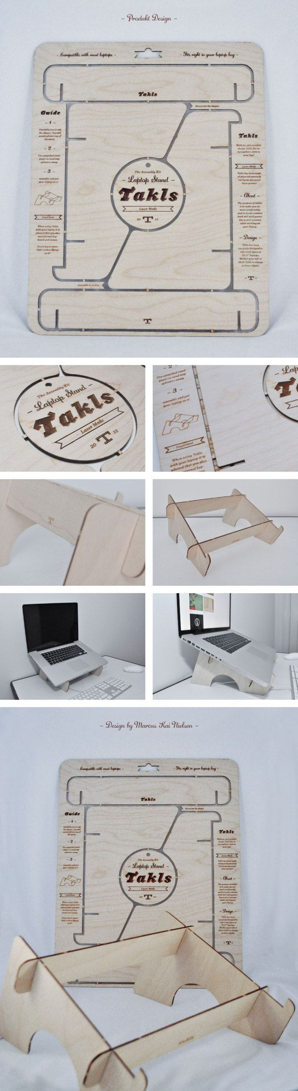 Takls Laptop Stand by Marcus Kai Nielsen, via Behance