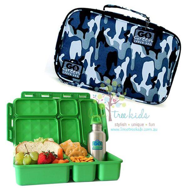Go Green Lunch Box Set - Camo Blue