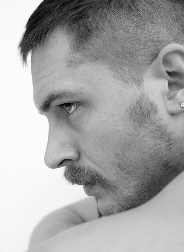 He is able to convey intensity even in still profile.