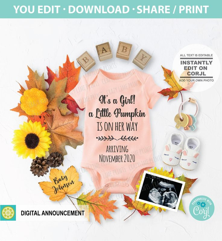 Pin on its a girl pregnancy announcement