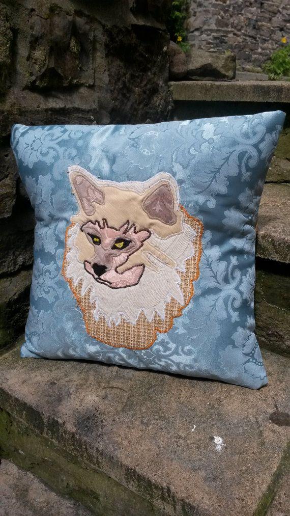 Ginger Persian Cat Cushion Pillow Kitten Animal by ByeBrytshi