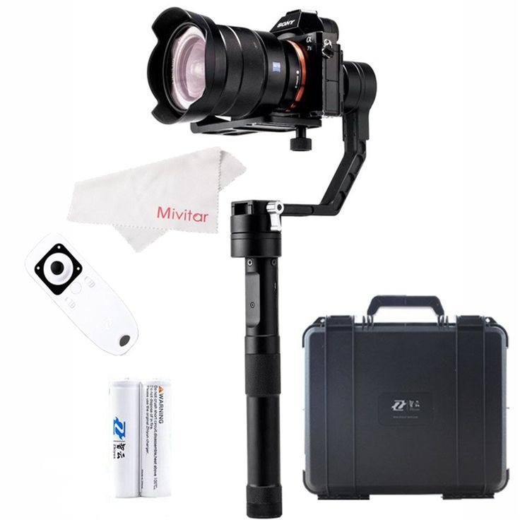 Zhiyun Crane 3 Axis Brushless Handheld Stabilizer Gimbal with Remote Control for Sony Nikon Panasonic Mirrorless Cameras Weights 350g -1200g