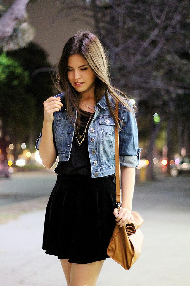 04-priceless-denim-jacket-black-velvet-skirt-leopard-booties-paper-bag-zara