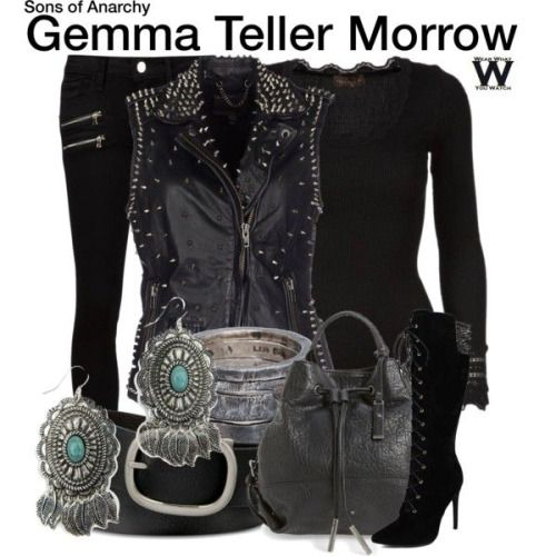Wear What You Watch • Inspired by Katey Sagal as Gemma Teller Morrow on...