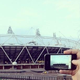 Capturing the progress of the London2012 Olympic stadium