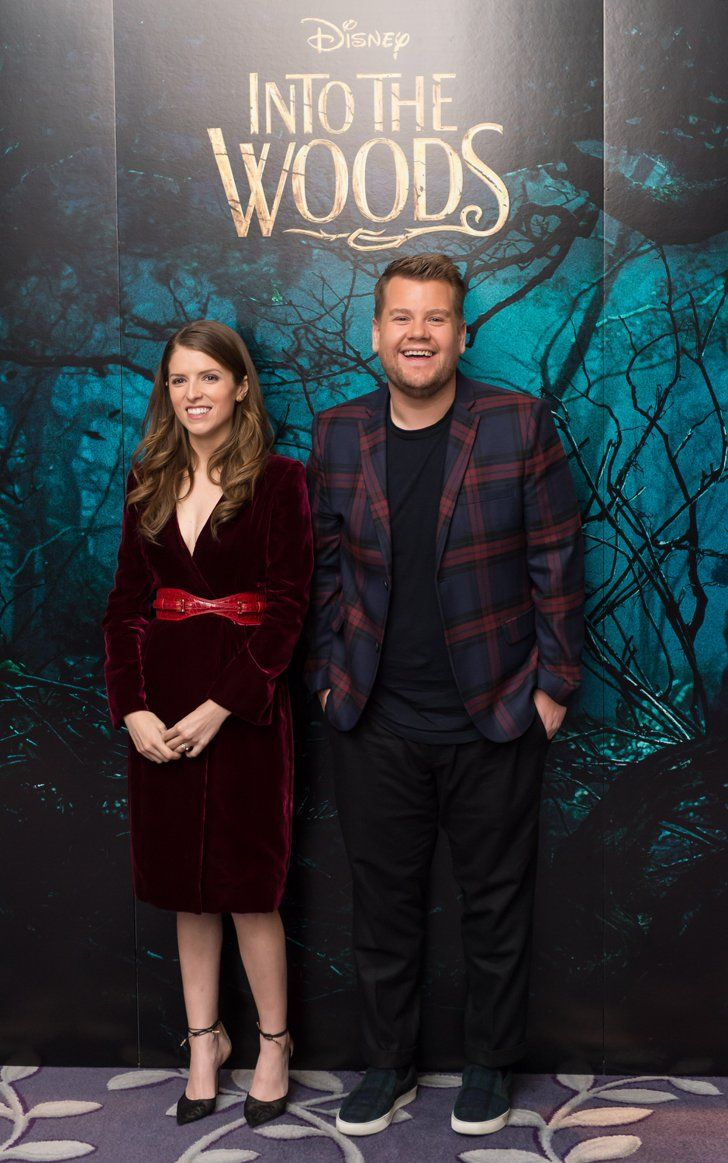 Pin for Later: This Week's Can't-Miss Celebrity Photos Anna Kendrick and James Corden struggled to keep a straight face at a photocall for Into the Woods in London on Friday.