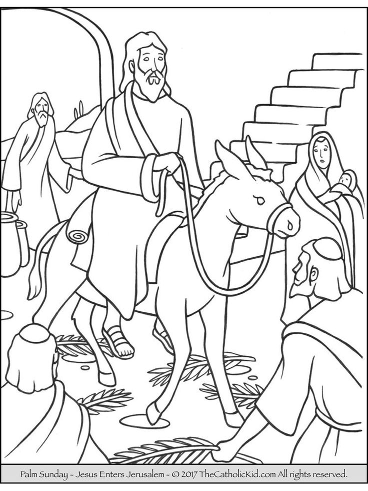 49+ Childrens coloring pages for palm sunday ideas in 2021