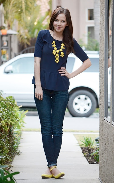 Loving how Merrick has styled our bright yellow bubble necklace!!