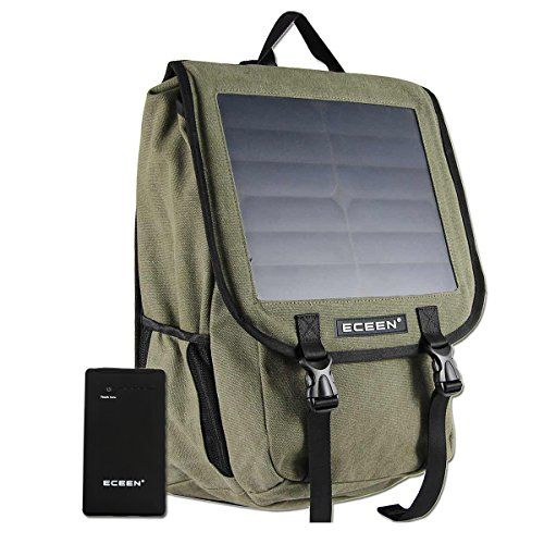 Canvans Backpack with 10W Solar Phone Charger and 10000mAh Power Battery Pack For Smart Cell Phones Tablets Digital CamerasGPS etc 5V Device Blue -- You can find out more details at the link of the image.Note:It is affiliate link to Amazon.