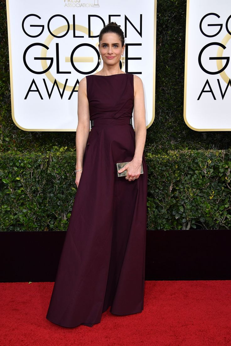 Amanda Peet in a Bottega Veneta dress