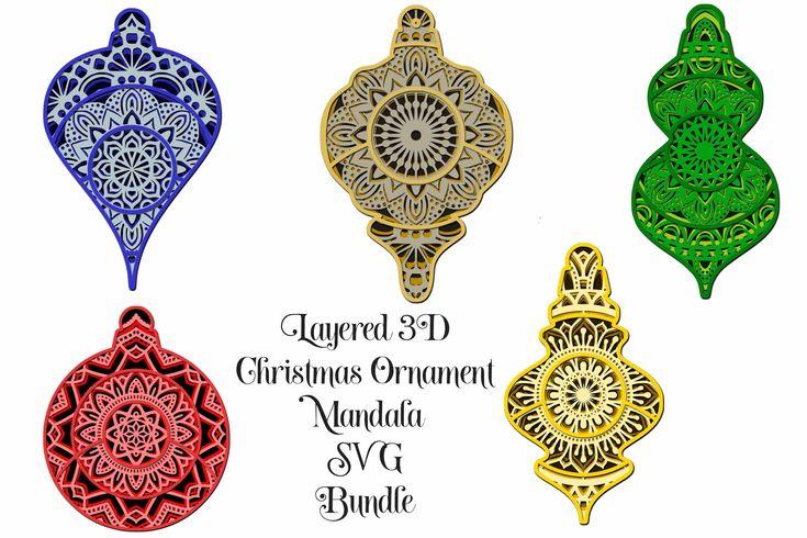 Download Christmas Ornament SVG Layered Mandala Bundle - 5 designs ...