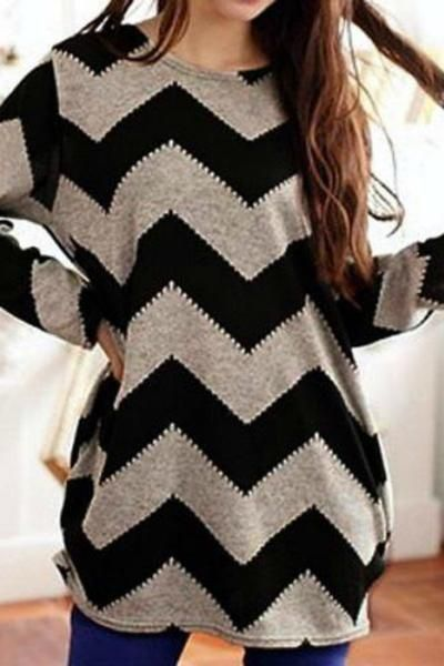 Our Lazy Days Chevron Print Top is sure to become your favorite for those cool crisp days! Featuring a chevron print with an O neck, this top is perfect to wea