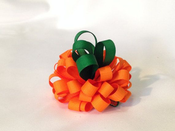 Pumpkin Hair Clip by ArgenCrafts on Etsy