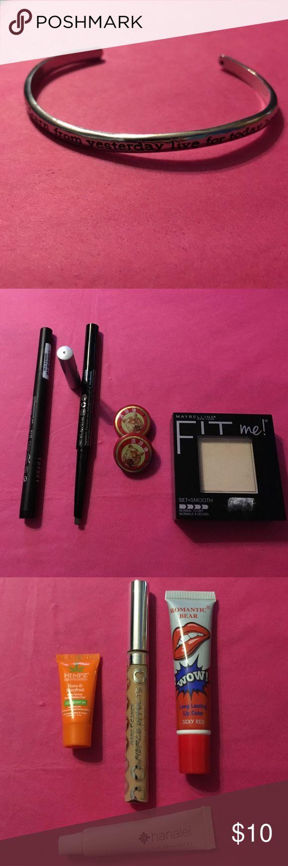 Makeup & Jewerly Bundle! �� Hanalei Lip Treatment Hempz Yuzu & Starfruit  Lotion Tester