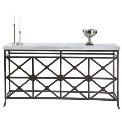 sofa+tables+with+crisscross+base | Console Table Eton collection. Veneered white marble top. Metal base ...