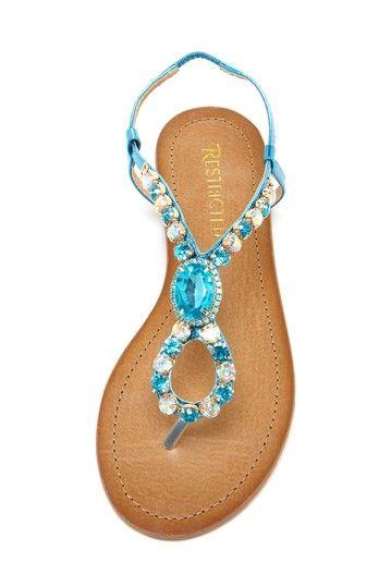Tap Twice Jeweled Sandal