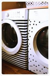 Use tape to jazz up your laundry machine and drier