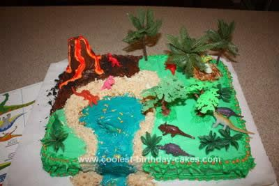 Coolest Dinosaur Scene Cake Design Birthday Cakes The O