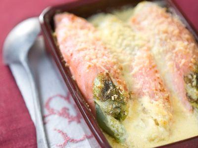 3 ingrédients = 1 recette - Roulade de chicon au saumon fûmé, sauce au mascarpone