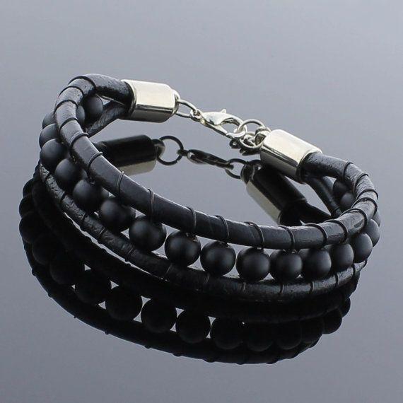 Mens Beaded Bracelet Yoga Jewelry Tibetan Jewelry by KochJewellery