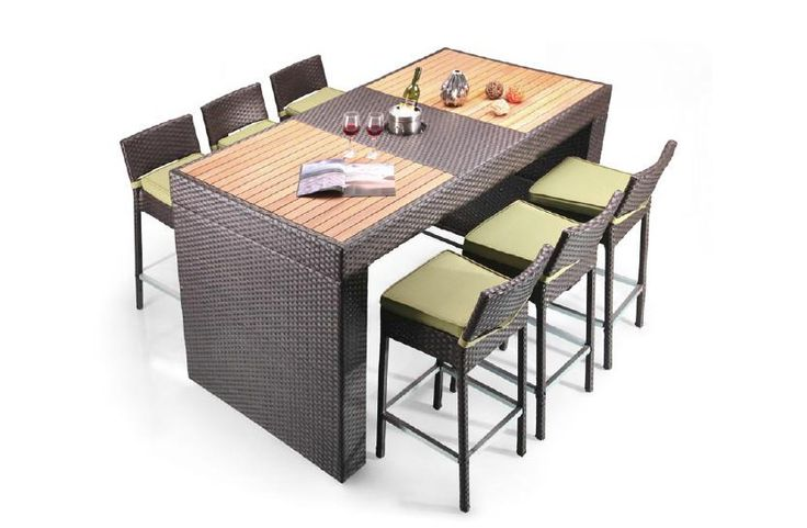 Renava Pier   Table And 6 Barstool Patio Bar Set. Distributed By VIG  Furniture.