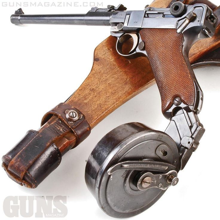 "Monday drum day? 32 to round ""snail drum"" loaded into a vintage 1917 German Artillery Luger. More in the May 2018 issue of GUNS Magazine.  #gunstagram #righttobeararms #2a #igmilitia #pewpewlife #luger #beatthedrum #drumline"