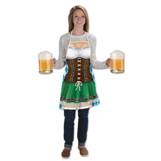 Let's Party With Balloons - Oktoberfest Fraulein Fabric Novelty Apron, $35.00 (http://www.letspartywithballoons.com.au/oktoberfest-fraulein-fabric-novelty-apron/)