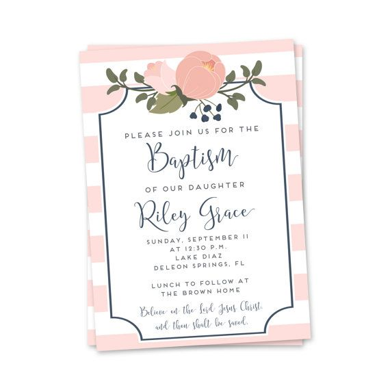 1000  ideas about baptism invitations girl on pinterest