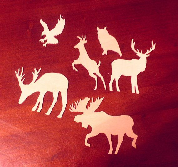 Wood Cut Outs Cutouts Woodlands Mix Moose by CrockettMountainWood, $11.00 #crafts, #craftsupplies, #woodworking,