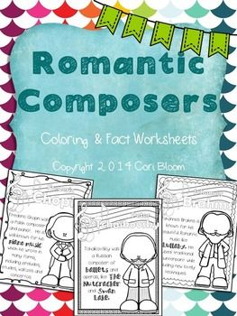 Romantic Composers Coloring Sheets