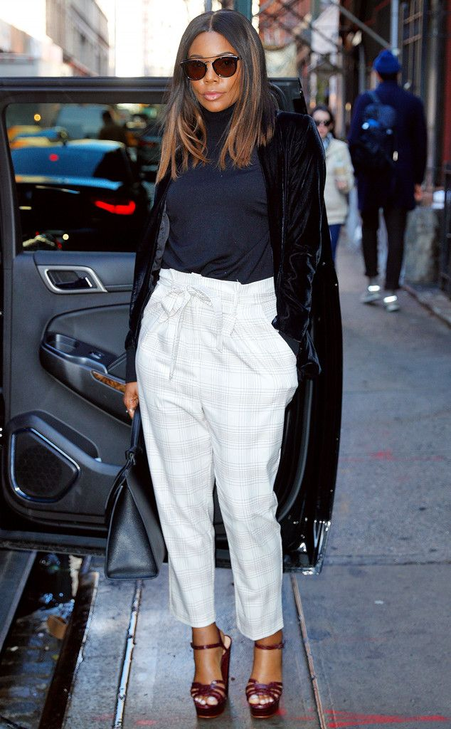 Gabrielle Union from The Big Picture  The actress strikes a fierce pose before heading to her car in New York.