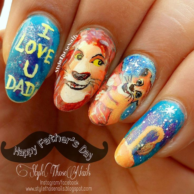 Style Those Nails: Happy Father's Day- A nailart inspired by The Lion King #fathersdaynailart #happyfathersday #fathersday #thelionkingnails