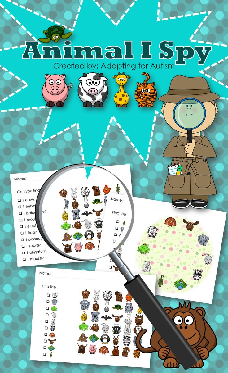 Animal I Spy games - 3 levels. Created for students with autism and other visual learners.