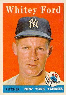 whitey ford baseball card | 1958 Topps Whitey Ford #320 Baseball Card Value Price Guide
