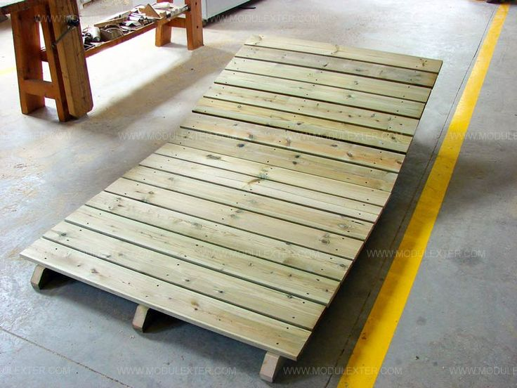 Pasarela de madera articulada Vista 1