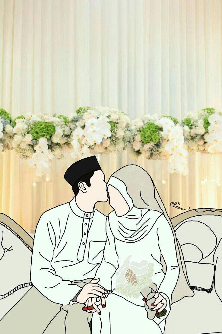 75 Gambar Kartun Muslimah Cantik Dan Imut Bercadar Sholehah Lucu Kartun Gambar Pengantin Gambar Perkawinan