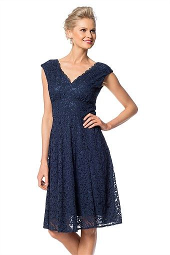 Women's Dresses - Grace Hill Fit and Flare Dress